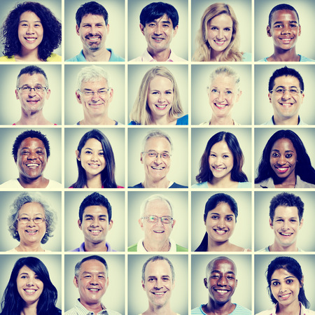 38976315 - protrait of group diversity people community happiness concept